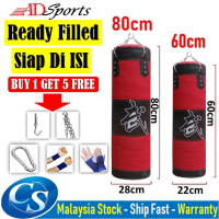 60cm / 80cm Filled Sand Puncing Bag / Siap Diisi Sandbag Training Fitness MMA Boxing Heavy Sand Punching Bag