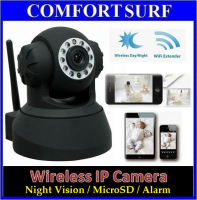 SecurEyes P2P Wireless CCTV IP Camera, Pan tilt 355 IR Night Vision / MicroSD / Alarm Output