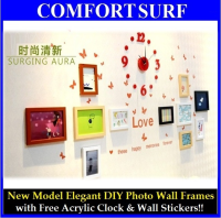 New Model Elegant DIY Eleven Photo Wall Frames Decoration (Combine Color)