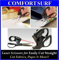 Stainless Steel Blades Laser Scissors for Cut Straight Fabrics, Cloth, Paper & More!!