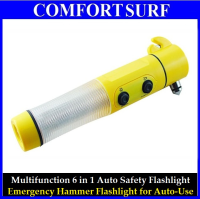 Multi-Function Emergency Hammer LED Flashlight for Auto-Use
