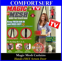 MAGIC MESH Curtains Hands-FREE Screen Door