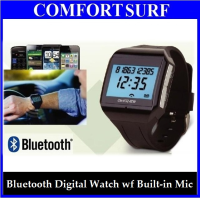Bluetooth Digital Watch With Built-in Mic / Caller ID