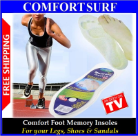 Comfort Foot Memory Foam Insoles For Your Legs, Shoes & Sandals