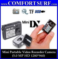 Mini Portable 5.0 MP HD 1280*960 Video Recorder Pinhole Camera