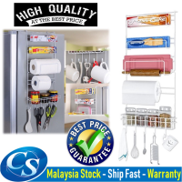 MR-009 Sidewall Hanger Kitchen Rack Kitchen Fridge Sidewall Shelf Organizer Storage Rack Multi-layer Holder