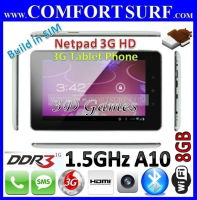 Netpad 3G HD Phone Call SMS Allwinner A10 Android 4.0 Tablet PC