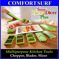 Multipurpose Kitchen Tool Nicer Dicer Plus-Vegetable, Fruit, Food Chopper, Blader, Slicer