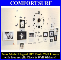 New Model Elegant DIY Eleven Photo Wall Frames Decoration (Black White)