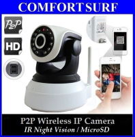Latest P2P Wireless IP Camera wf IR Night Vision MicroSD via Smartphone