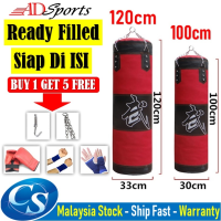 100cm / 120cm Filled Sand Puncing Bag / Siap Diisi Sandbag Training Fitness MMA Boxing Heavy Sand Punching Bag
