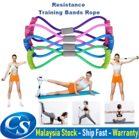 8 Shaped Resistance Training Bands Workout Exercise Tube Resistance Rope Hot Selling Yoga Fitness Accessories