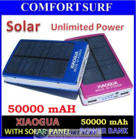 XIAOGUA 50000mAH with SOLAR Panel Portable Mobile Power Bank