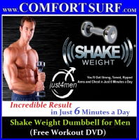 Shake Weight Dumbbell Shoulder Muscle Builder Fitness & Exercise for Men with (Free Workout DVD)