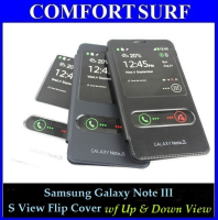 Samsung Galaxy Note III S View Flip Cover (Up & Down View) + Free Screen Protector