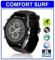 8GB HD Waterproof Spy Watch Camera Video camcorder (black)