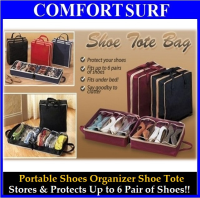 Portable Shoes Organizer Shoe Tote - Stores & Protects up to 6 Pair of Shoes!