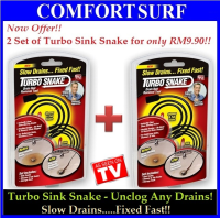 New!! Turbo Sink Snake - Get 2 Sets of Turbo Sink Snake for ONLY RM9.90!!