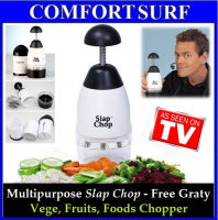 Slap Chop with Cheese Grater - Vege, Fruits, Foods Chopping Machine