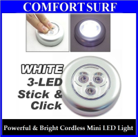 Stick N Click Cordless Mini 3 LEDs Bulb Bright Spot Light