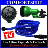 XHOSE 100FT-The Incredible Expandable & Contract Hose + Spray Nozzle wf Powerful 7 Functions!