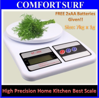 High Precision Electronic Digital Kitchen Weight Scale (7kg x 1g)