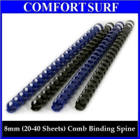 8mm (20-40 Sheets) Quality 21 Ring Comb Binding Plastic A4 Paper