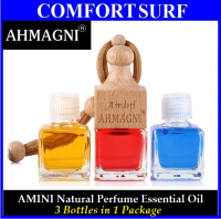 3 Bottles AHMAGNI Amini Natural Perfume Botanical Aromatherapy Essential Oil
