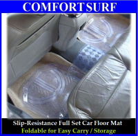 Full Set 5 Pieces Transparent PVC Waterproof Car Floor Non-Slip Mat Carpet