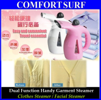 Dual Function Mini Portable Handy Garment Steamer - Clothes Iron Steamer & Facial Steamer