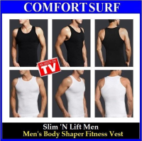Men Body Shaper Vest Slim N Lift (M, L, XL, XXL) White Color