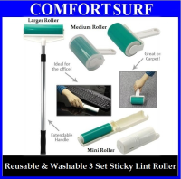 Reusable Sticky Lint Roller Set. Come with Three Different Sizes for Your Convenience