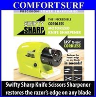 Swifty Sharp Cordless Motorized Knife Scissors Blade Sharpener ASOTV