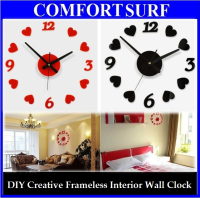 Creative Interior Decoration Frameless DIY Wall Acrylic Clock