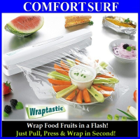 Wraptastic Dispenser Wrap Food in a Flash! Pull, Press, Wrap in Second!!