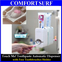 Touch Me! Toothpaste Automatic Dispenser + Toothbrush Holder