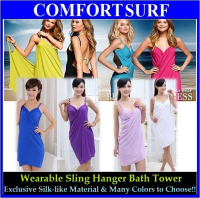 Wearable Magic Imitated Silk Fabric Sling Hanger Bath Towel (D)
