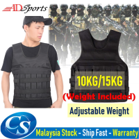 10KG/15KG (Weight Included) Adjustable Weight Vests Weighted Jacket Exercise Vest for Weight Loss Running Training