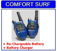 Motorola Talkabout T5720 Two Ways Walkie Talkie + Re-Chargeable Battery + Charger (2 sets)