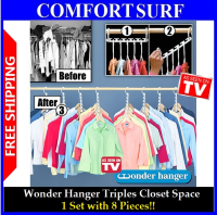 Clothes Wonder Hanger Triples Closet Space X8 for wardrobe
