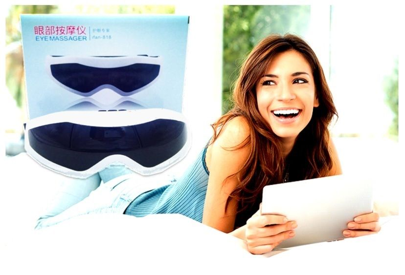 Eye Care Massager Glasses Acupuncture Gently Vibrating Rest & Relax Machine