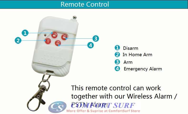 Wireless Alarm Remote Control