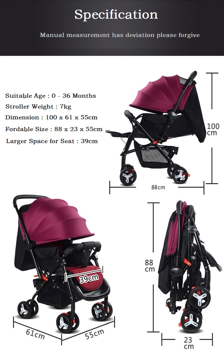Baby stroller two way Comfortable stroller