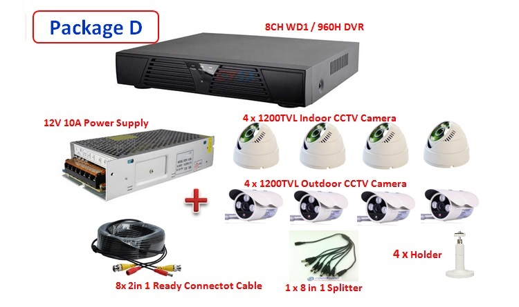 Latest 2015 & NEW Version 8 Channel P2P CCTV Full WD1 (960H) HDMI Network HD DVR Real Time Monitoring Via Smatphone / PC