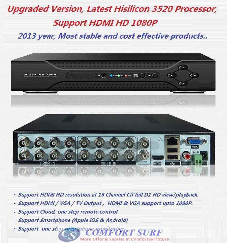 16 Channel CCTV H.264 Full D1 HDMI Network HD DVR (end 9/8 ...