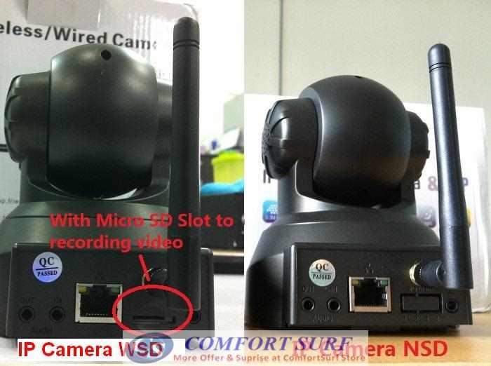 Bossan Wireless / Wired CCTV IP Camera, Pan tilt 335 IR Night Vision / MicroSD / Alarm Output - Remote Monitoring Via smartphone