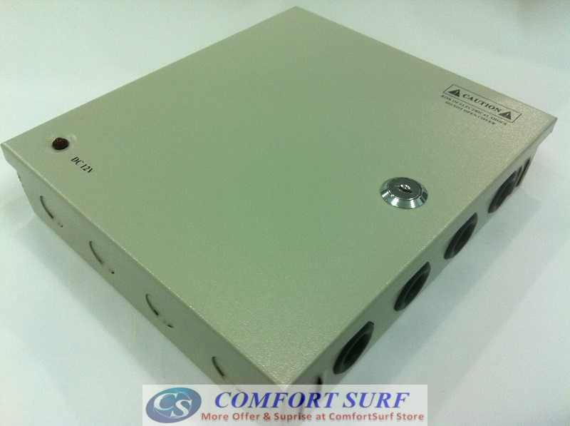 IRON Box 12V 10A 9 Channel Quality Power supply Distribution for Alarm CCTV cameras