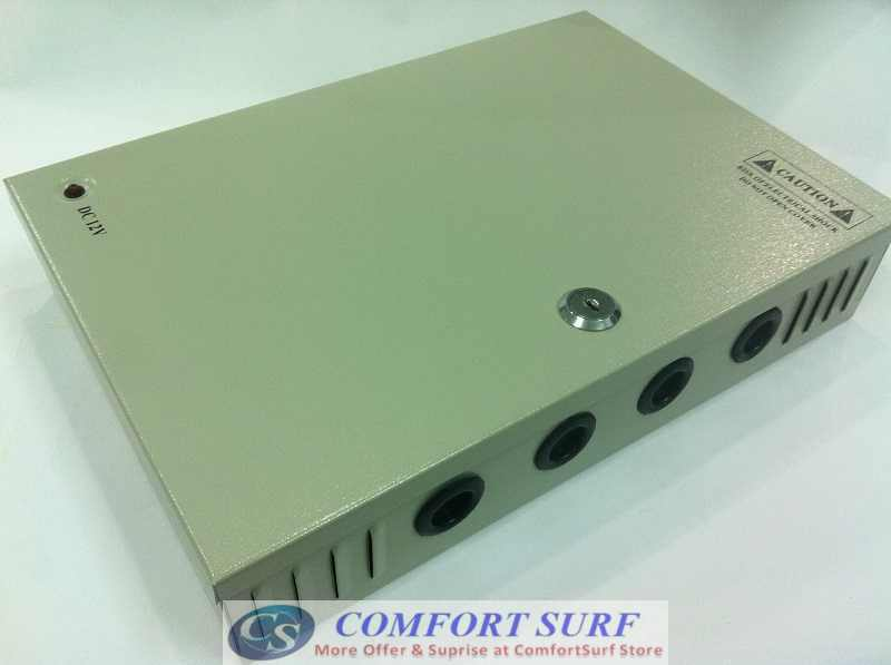 IRON Box 12V 30A 18 Channel Quality Power supply Distribution for Alarm CCTV cameras