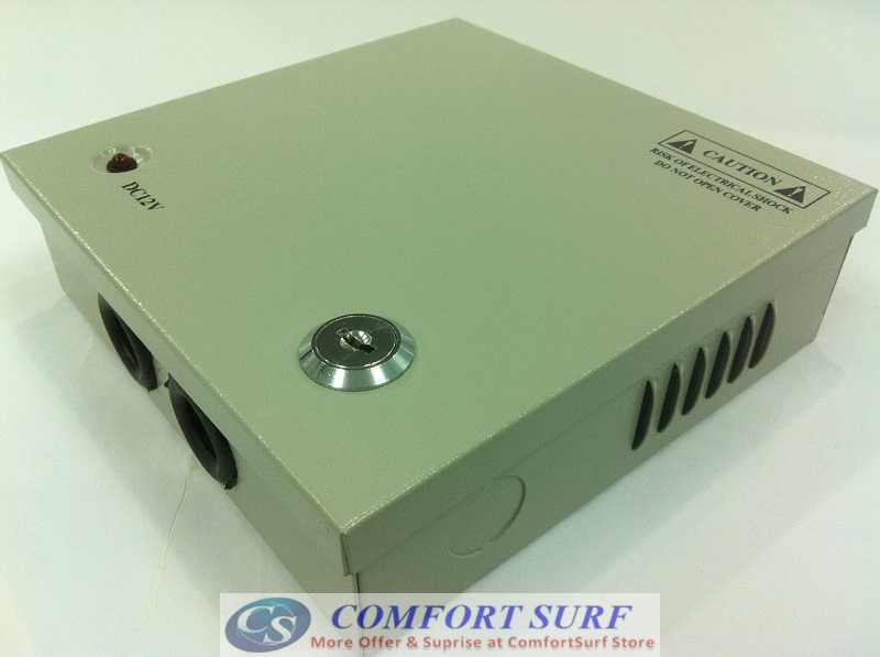 IRON Box 12V 3A 4 Channel Power supply Distribution for Alarm CCTV cameras