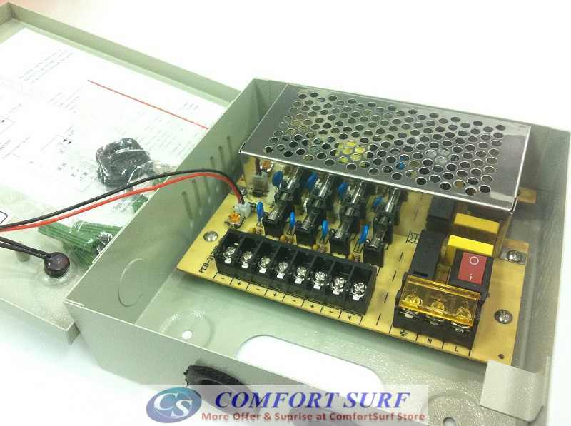 CCTV 12V3A 4CH PowerSupply Box